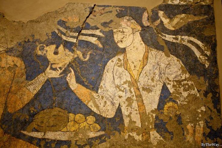 A Feast, Sogdian Fresco from Piandjikent