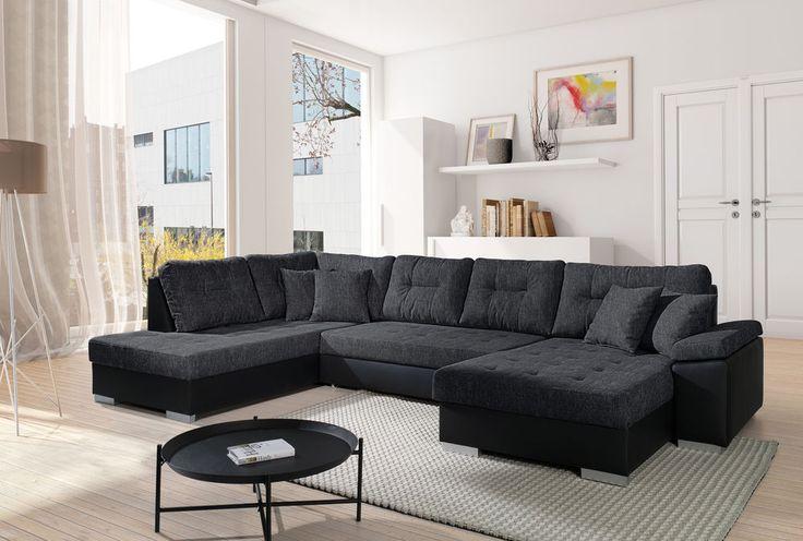 Sofa Couchgarnitur Couch Sofagarnitur SANTORINI 3 Wohnlandschaft Schlaffunktion