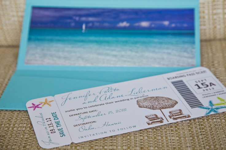 Custom wedding save the date passports - courtesy of @Alicia T Rohan of A Designs Co.