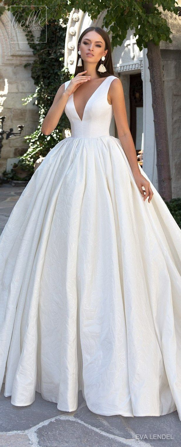 Beautiful Gown Although It Looks Wrinkled Toward The Bottom Simple Wedding Dress By Eva Lende Wedding Dresses Simple Wedding Dresses Elegant Wedding Dress