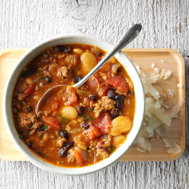 Sausage Bean Soup Recipe -You're moments away from a flavor-packed soup that keeps you warm on even the chilliest nights. It's just the kind of recipe we Minnesotans love.