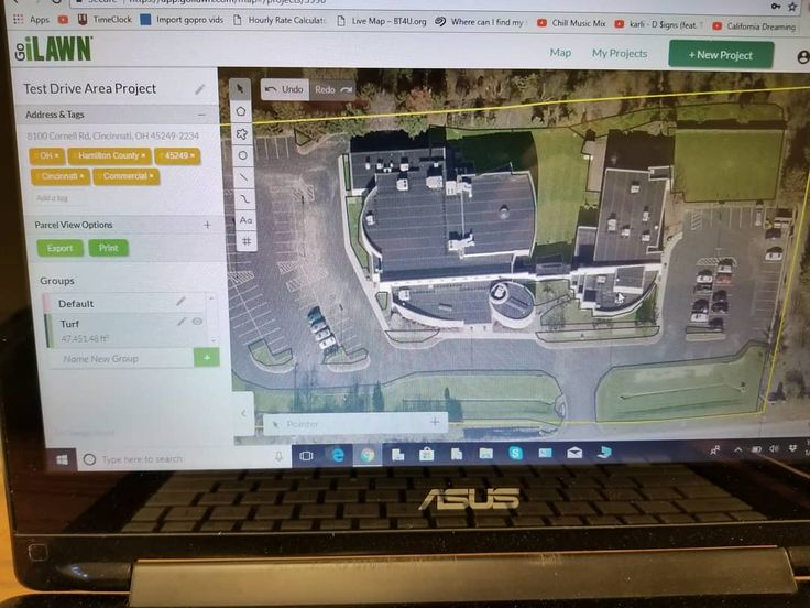 I just started learning how to use GoiLawn. I really enjoy the program so far makes measuring areas so easy! #lawncare #landscaping #software