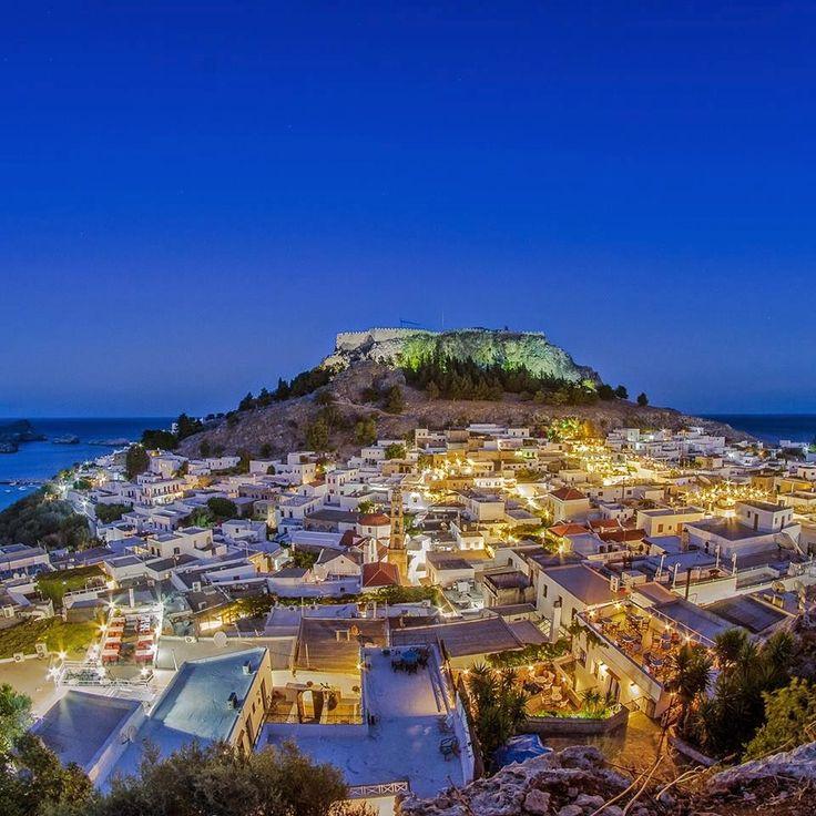 lindos landscape greece rodos island