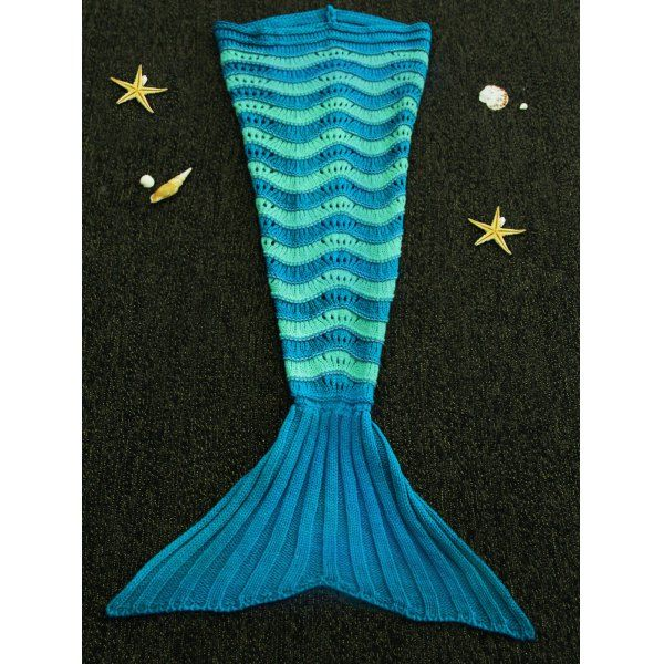 Sweet Hit Color Knitted Stretchy Fishtail Blanket For Children, COLORMIX in Blankets & Throws | DressLily.com