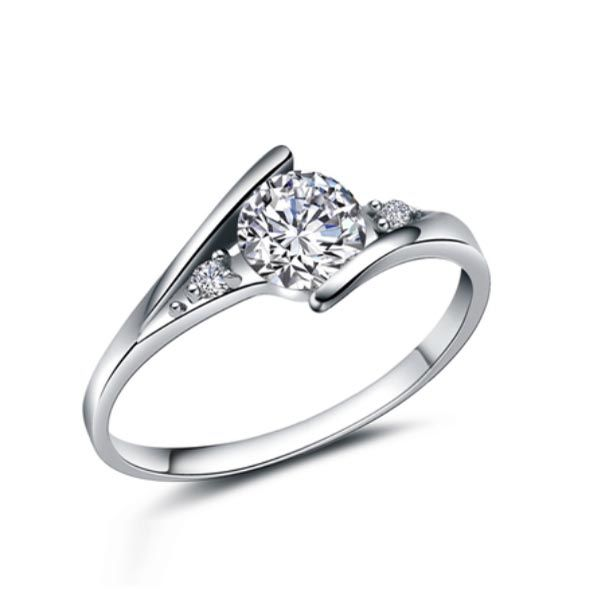925 Streling Silver Austria Crystal Finger Ring For Women Wedding Jewelry