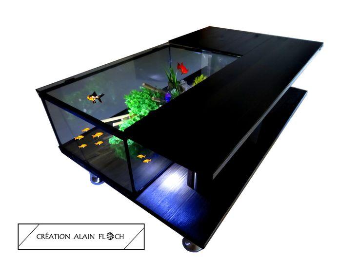 Table basse aquarium SOLETA