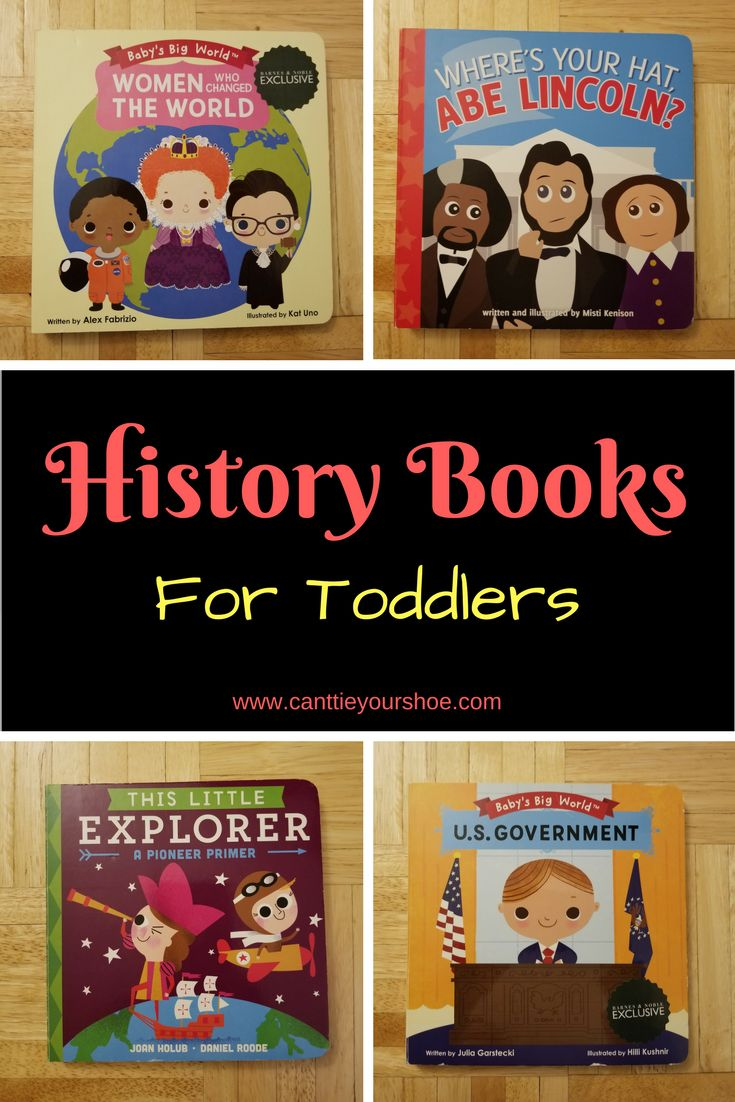 History Books for Toddlers.  President's week, Women's History month, Black History month, Independence day and more!