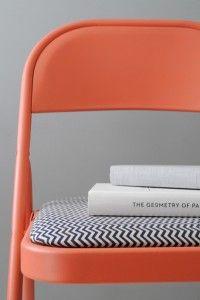 chaise pliante customisée