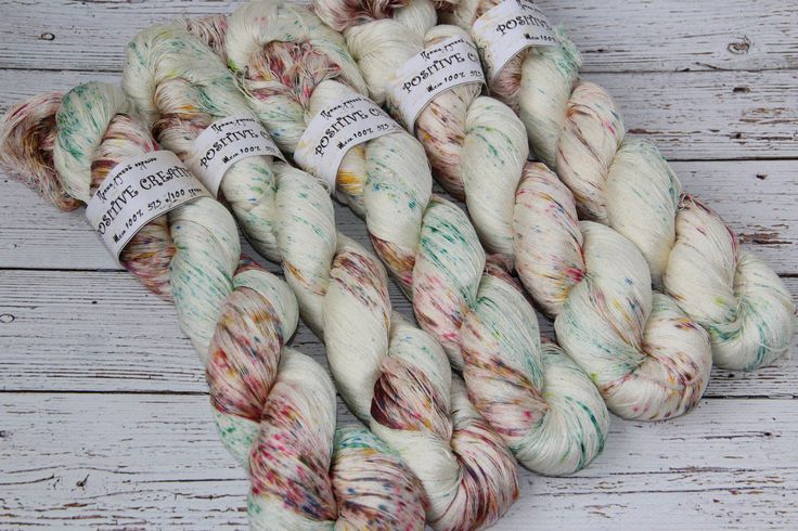hand dyed yarn, 100% silk, 410 yards/375 meters, Fairy garden by PositiveCreative on Etsy