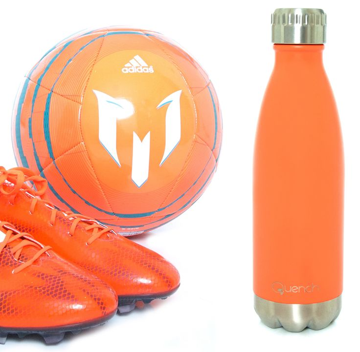 Quench Bottle Bright Orange.            Unbreakable double wall stainless steel insulated flask/bottle. Keeps any Beverage hot for 18 hours or cold for 24 hours. Choose between 500 ml, 750ml or 1lt Visit GoodiesHub for the full range of exciting vibrant colours. GoodiesHub.com