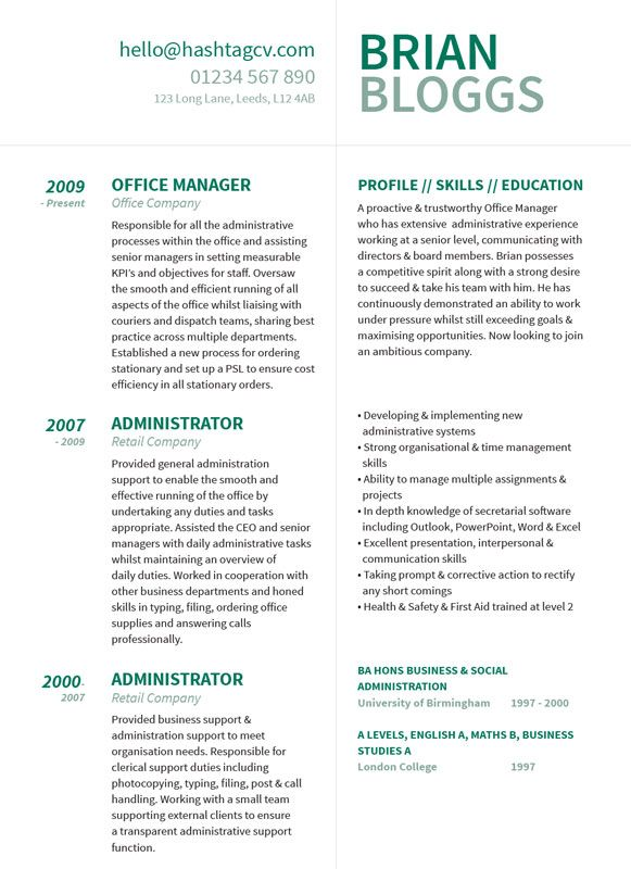 28 best Standout CV \/ Resume Designs images on Pinterest Design - Clerical Duties