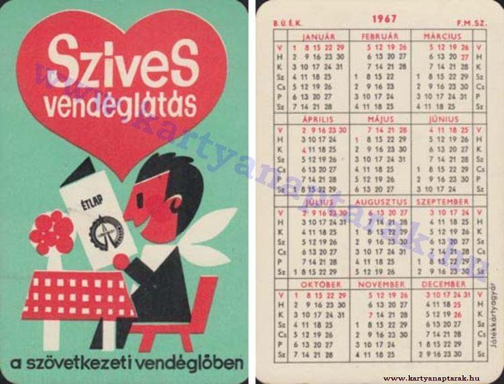 1967 - 1967_0118 - Régi magyar kártyanaptárak