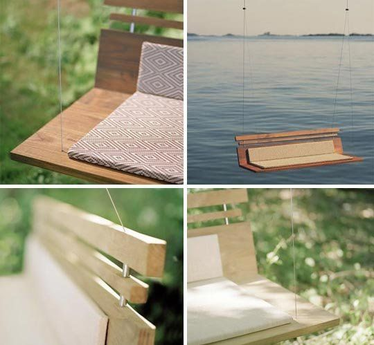 Woodia La Piccolo Modern Porch Swing