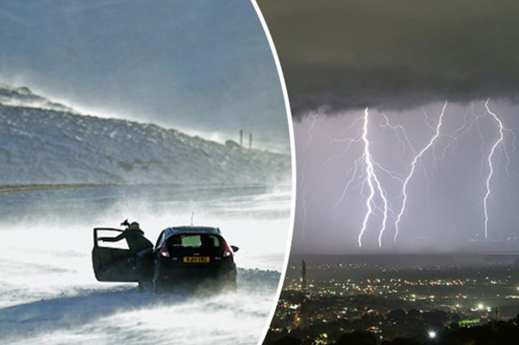 What is thundersnow UK braced for freak weather phenomenon - Daily Star