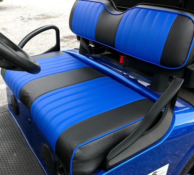Replace and customize with new custom golf cart seat covers.  #golfcartdiy
