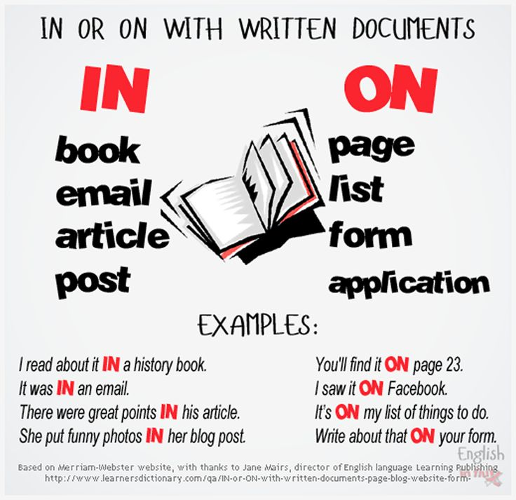 'In' or 'On' with written documents.- Learn and improve your English language with our FREE Classes. Call Karen Luceti 410-443-1163 or email kluceti@chesapeake.edu to register for classes. Eastern Shore of Maryland. Chesapeake College Adult Education Program. www.chesapeake.edu/esl.