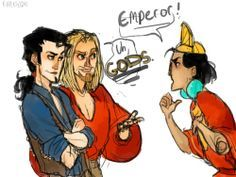 Kuzco meets Miguel and Tulio - The Emperor's New Groove/The Road to El Dorado(watch one or the other in Spanish)