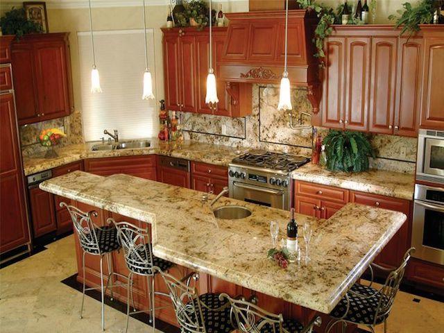 Lapidus Brown Granite Countertop Kitchens Granite