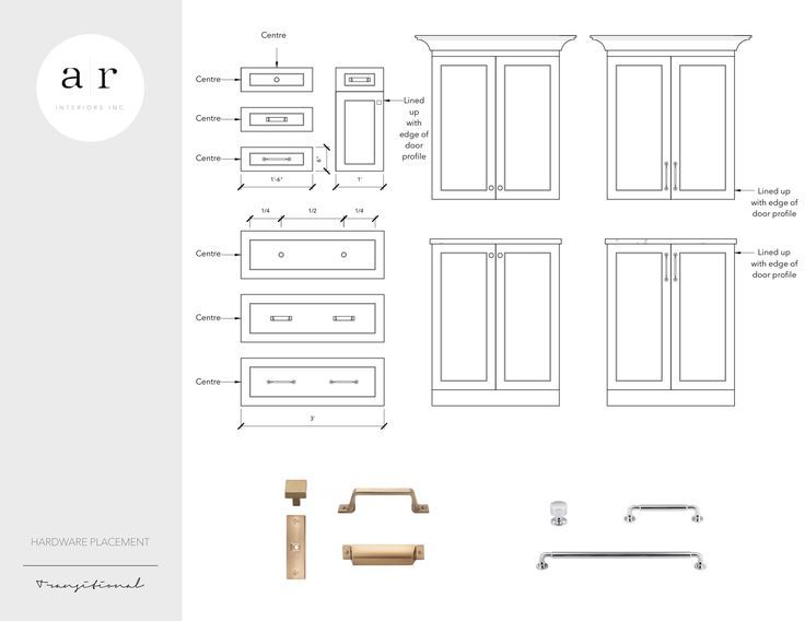 CABINET HARDWARE PLACEMENT GUIDE | Cabinet hardware ...