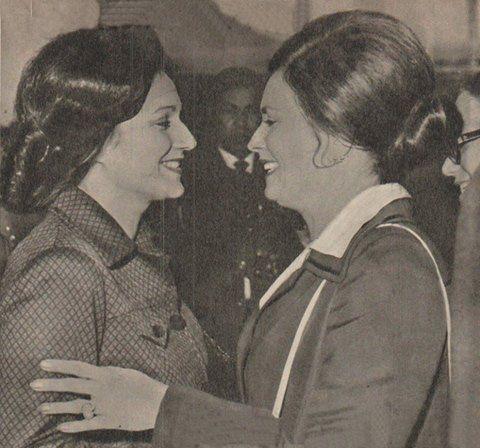 Jihan Sadat And Suzanne Mubarak