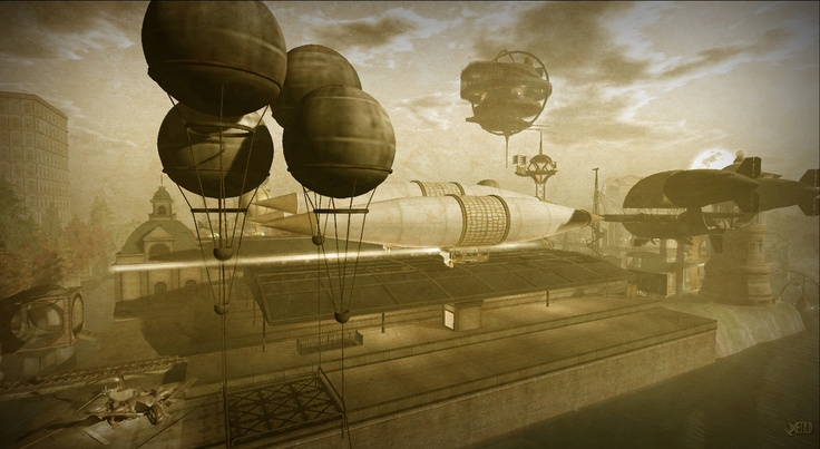 Touring the Steampunk themed Sims of Second life : Steampunk