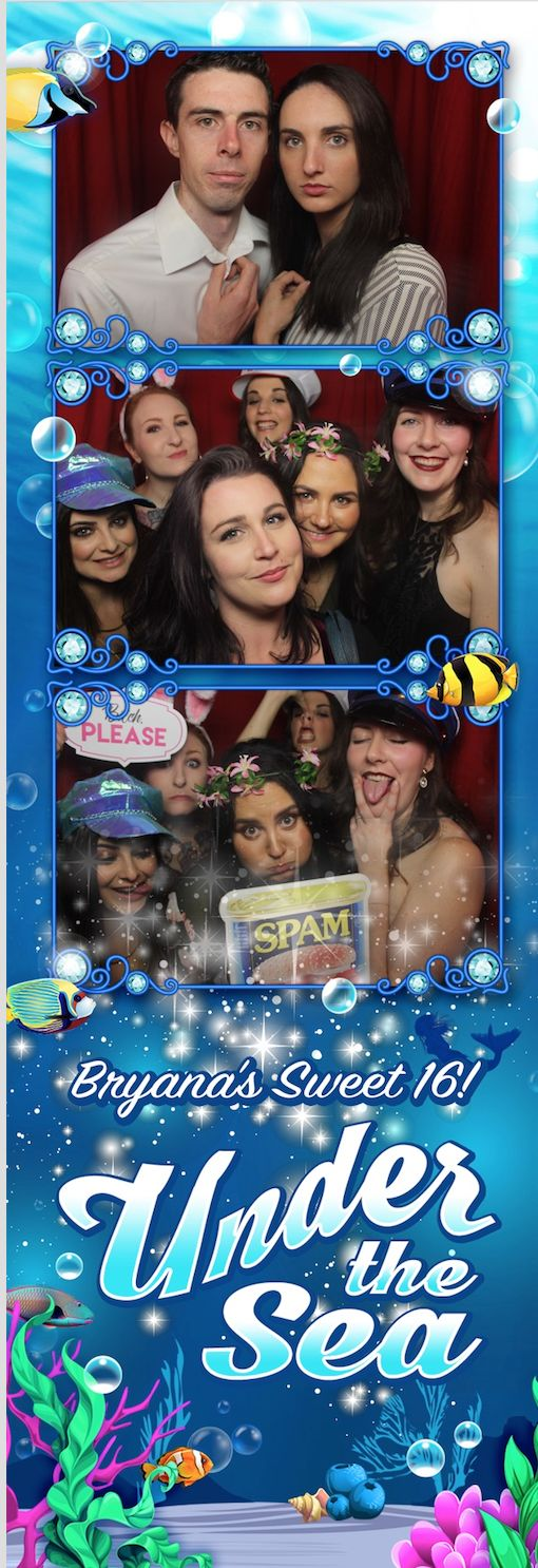 Under The Sea themed party, photostrip template.   Photobooth hire Melbourne. www.wooshkaphotobooths.com.au