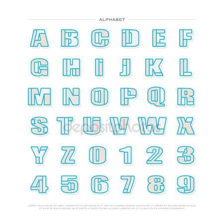 Ladda Ner - Mosaik stil alfabetet bokstäver och siffror. Vector teckensnitt typ design. bokstäver pussel 3d element. djärva sättning. regelbundna typsnitt mall — Stockillustration #122167846