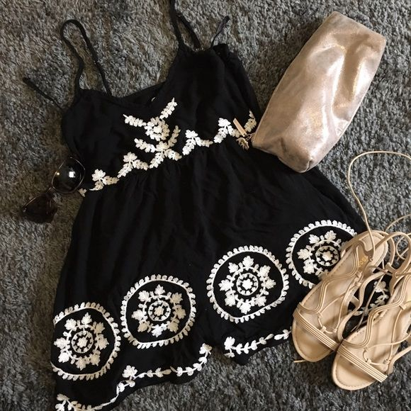 I just discovered this while shopping on Poshmark: LF black and white romper. Check it out!  Size: S, listed by tess_closet_