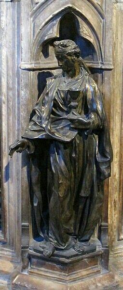 Fede. Fonte Battesimale del Battistero del duomo di Siena.  1427
