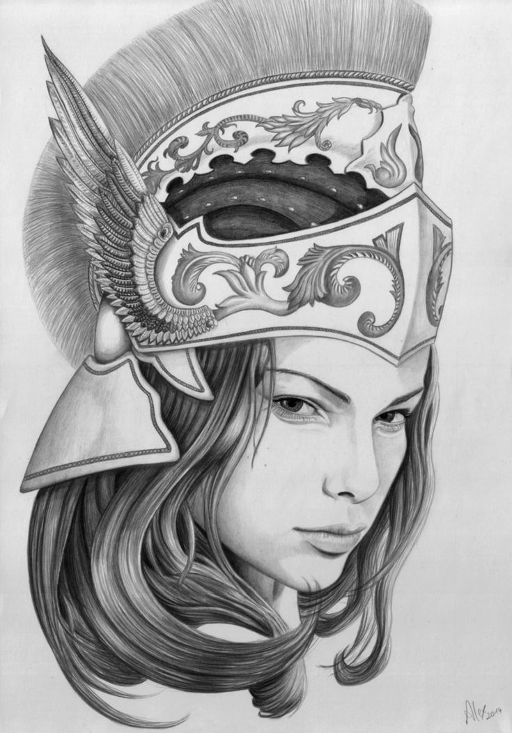 Богиня афина картинки тату