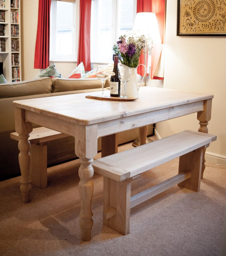 Rustic Dining Table and Bench Set, £950.00