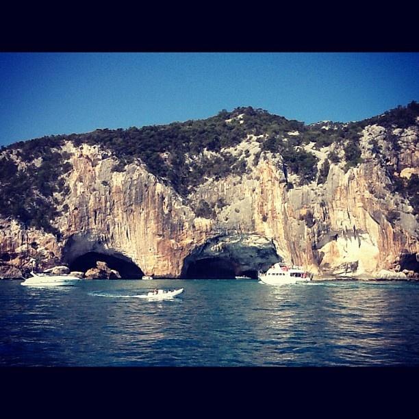 Ingresso alle Grotte del Bue Marino a Cala Gonone (Dorgali) - Sardinia - Italy