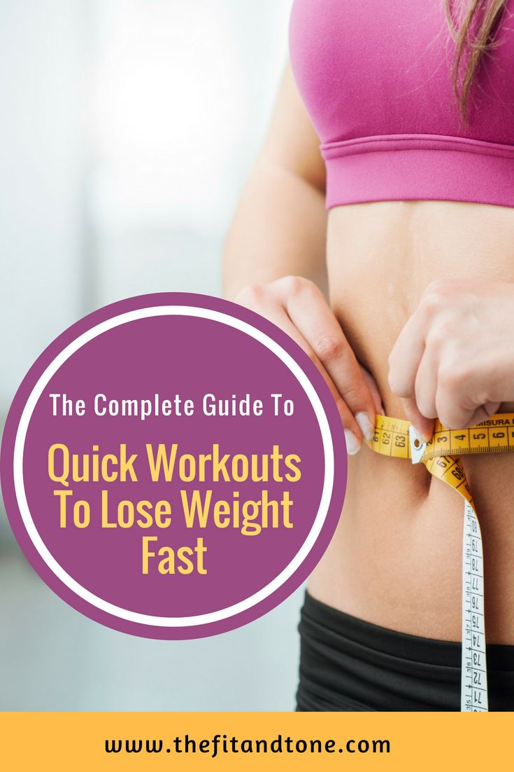 Quick Workouts To Lose Weight Fast The Fit And Tone Blog Workout