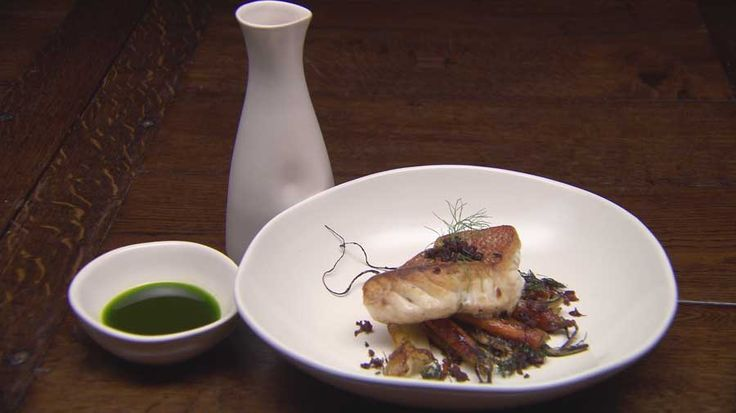 Pan Seared Red Emperor with Roast Sherry Carrots and Fennel, Billy, Australia Master Chef 2016