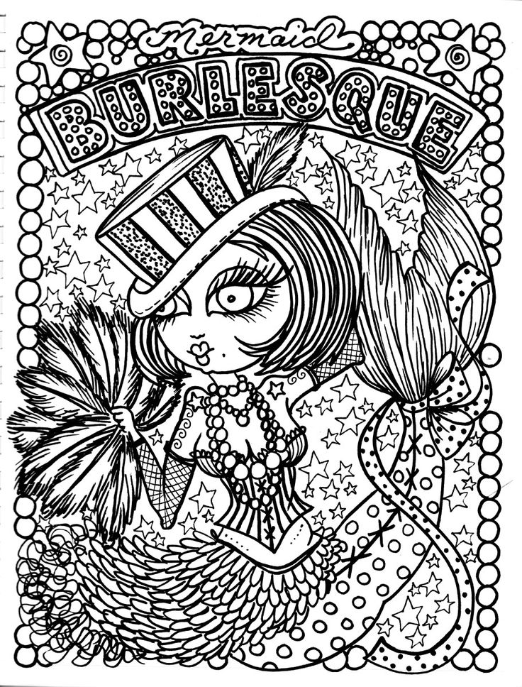 258 best images about Mermaid Coloring