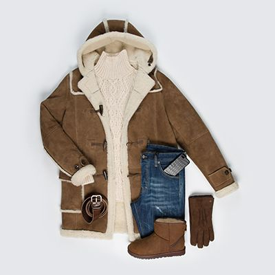 Duffle Coat #Marini Jean #Dsquared2 Maille #ErmannoScervino Boots et gants #UGG Ceinture #DolceGabbana