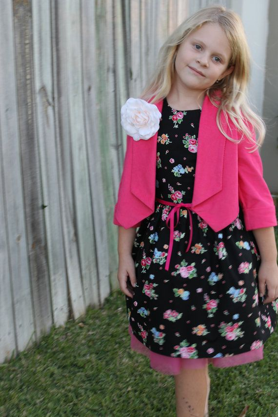 Pink Baby Cord Cropped Jacket by HullabalooKids on Etsy, $35.00