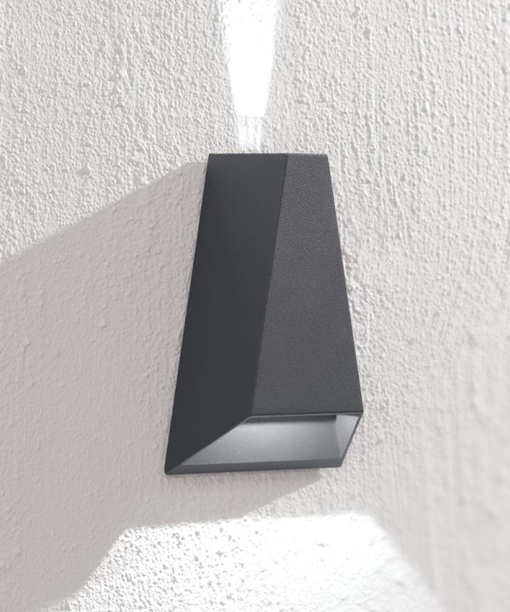 LEDlux Vice 6W Triangle Up/Down Exterior Wall Bracket in Charcoal $129.90