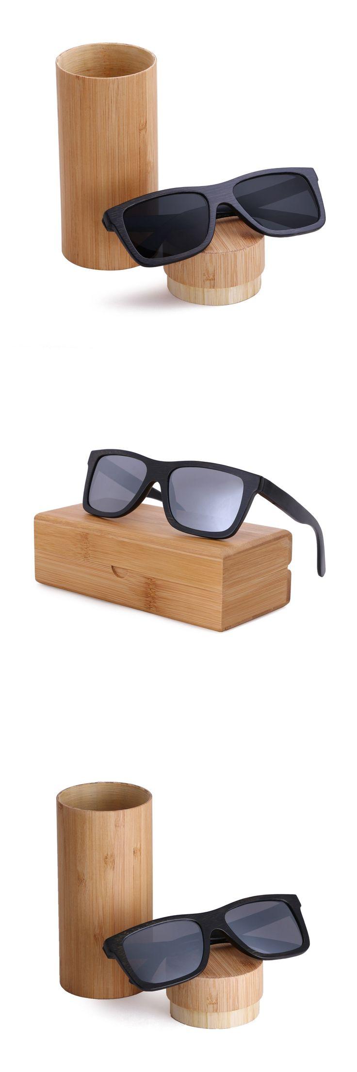 2016 new black  frame bamboo sunglasses polarized lens wooden sunglasses