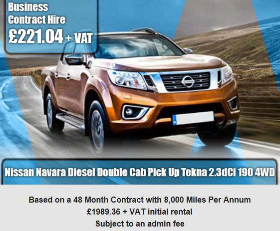 Nissan Navara Diesel Double Cab Pick Up Tekna 2.3dCi 190 4WD