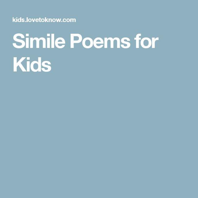 25+ best ideas about Simile poems on Pinterest | Simile, Color ...