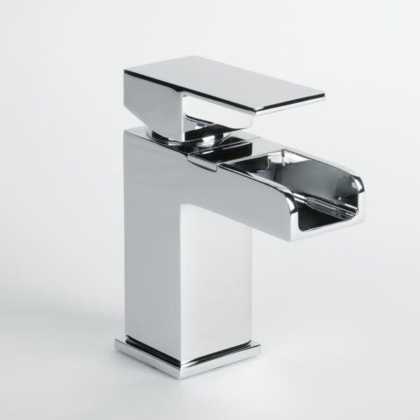 Quadra Waterfall Basin Mixer Tap | Waterfall Bathroom Taps | Better Bathrooms