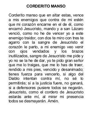 CORDERITO MANSO ORACION | Oraciones, Oraciones milagrosas y ...