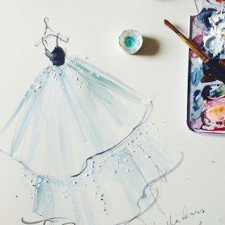 Un altro abito in versione acquerello