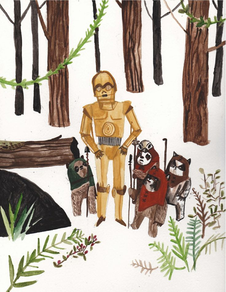 May the forth be with you, Star Wars illustration by Dick Vincent illustrations