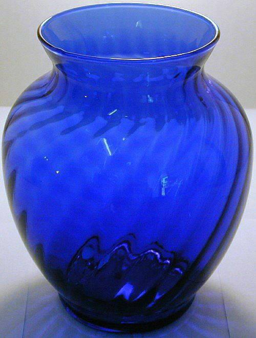 Vintage cobalt blue glass vase.