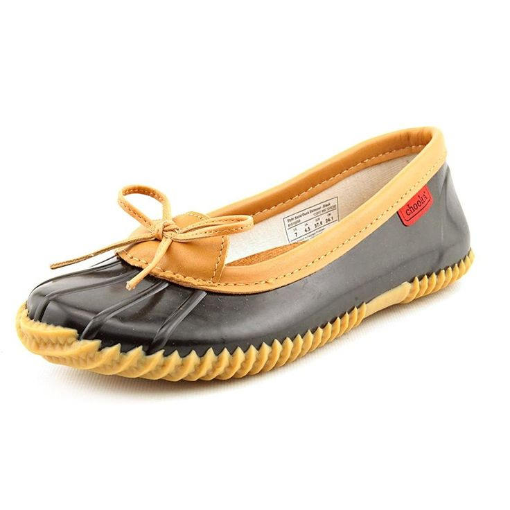 Chooka Womens Duck Skimmer Black Rain Flats 9 M -- Startling review available here  : Outdoor Shoes