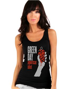 Green Day American Idiot Tank.. BECAUSE I JUST WANT TO FIND A WOMENS GREEN DAY SHIRT