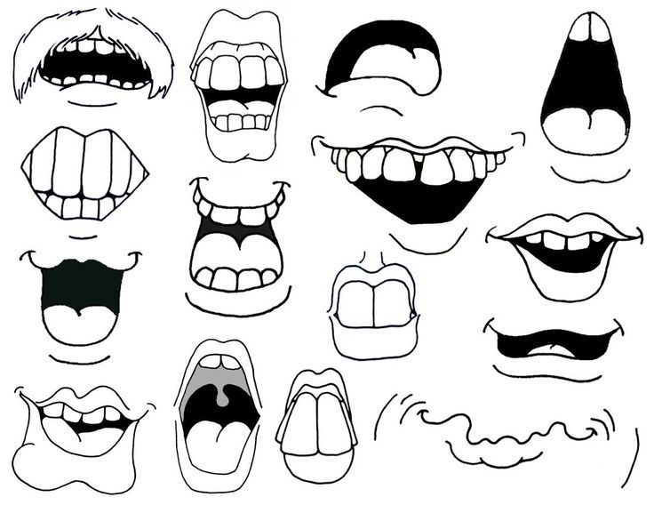 bouche de dessin animé comment dessiner la bouche de dessin animé. 843