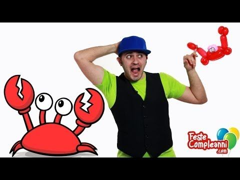 Palloncino Granchio - Ballon Claw Crab - Granchio con Palloncini, Balloon Claw Crab with balloon art. Video tutorial per costruire una scultura con palloncini a forma di Granchio.   Palloncini per animazioni - Granchio con Palloncini - Nell'articolo di oggi vedremo insieme come costruire un semplicissimo Granchio utilizzando solamente un palloncino modellabile per sculture.
